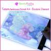 Tablette lumineuse format A4 - Broderie Diamant