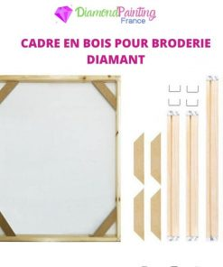 Cadre Bois Broderie Diamant